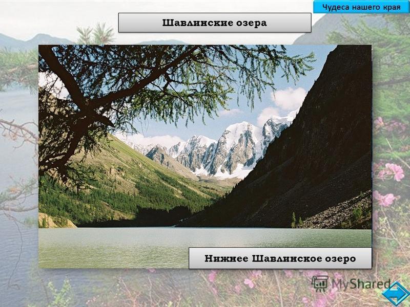 Шавлинские озера Верхнее Шавлинское озеро Нижнее Шавлинское озеро Чудеса нашего края
