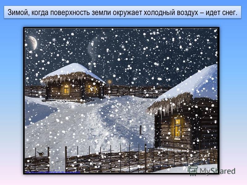 Зимой, когда поверхность земли окружает холодный воздух – идет снег. http://gblor.ru/blogs/sneg-idet-sneg-idetk-belim-zvezdoch/32006