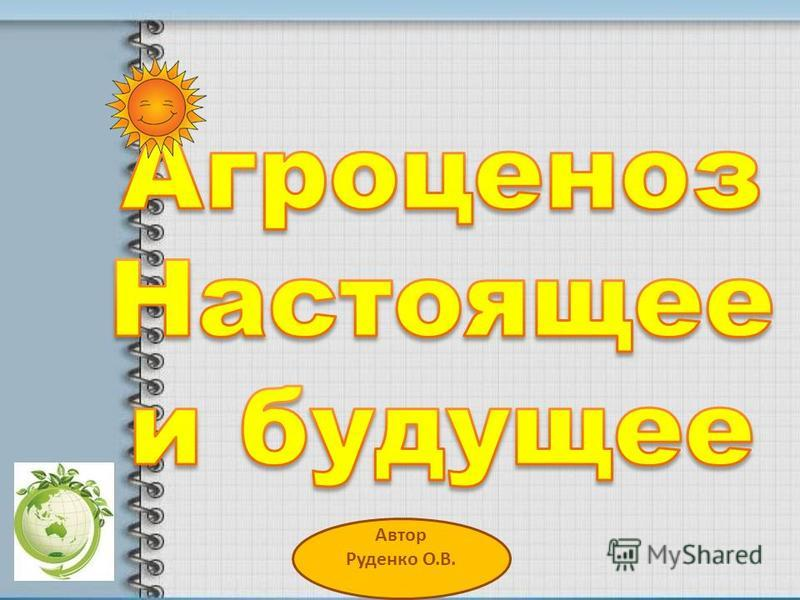 Автор Руденко О.В.