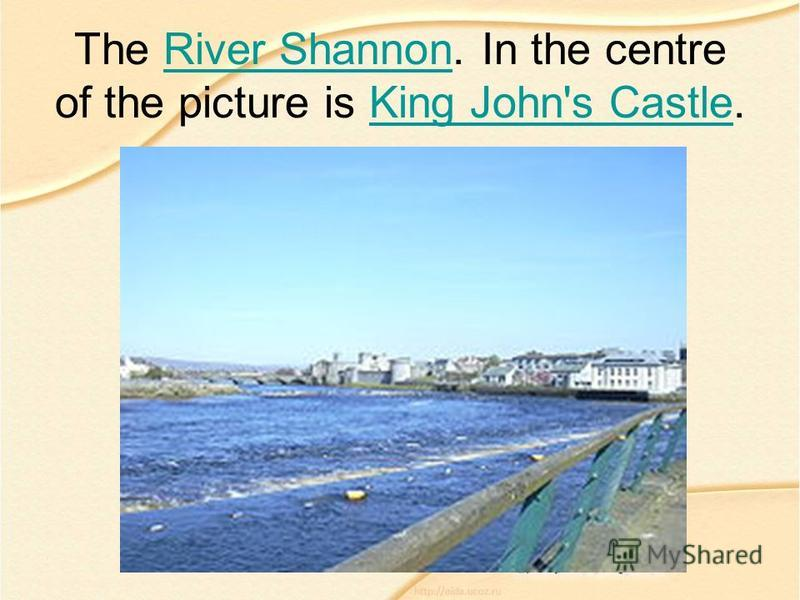 The River Shannon. In the centre of the picture is King John's Castle.River ShannonKing John's Castle
