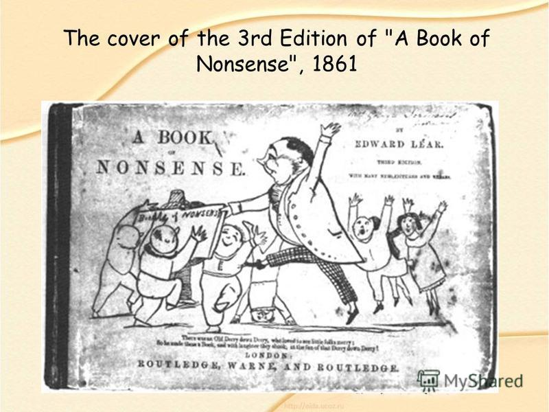 The cover of the 3rd Edition of A Book of Nonsense, 1861