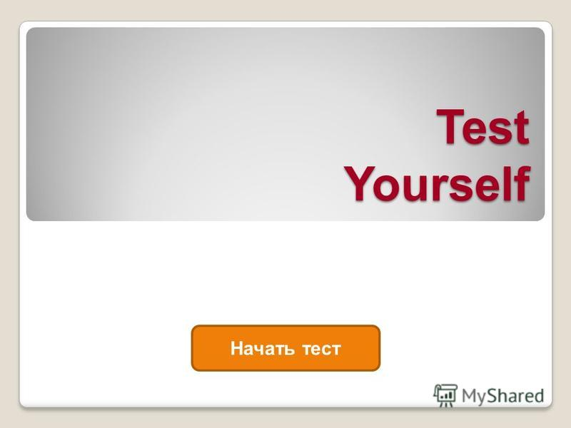 Test Yourself Начать тест