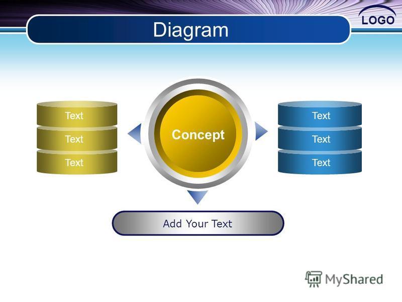 LOGO Diagram Concept Add Your Text Text