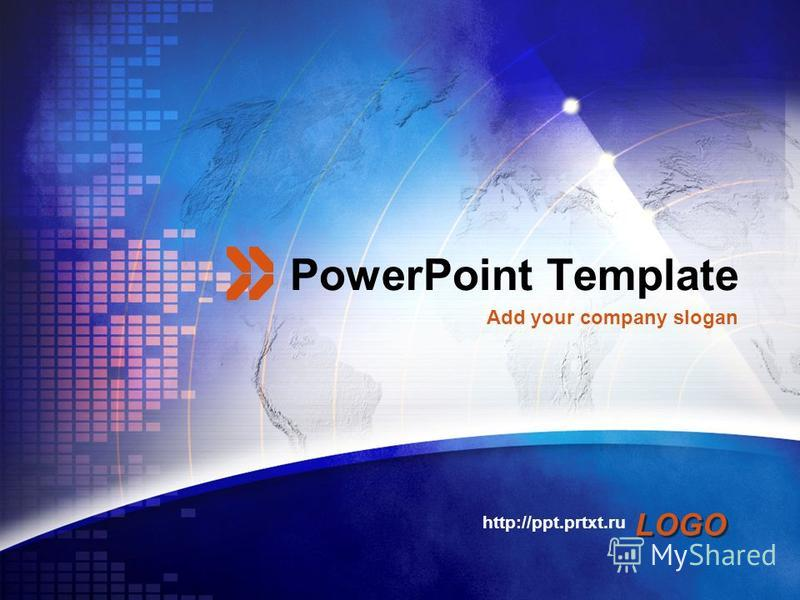 LOGO PowerPoint Template http://ppt.prtxt.ru Add your company slogan