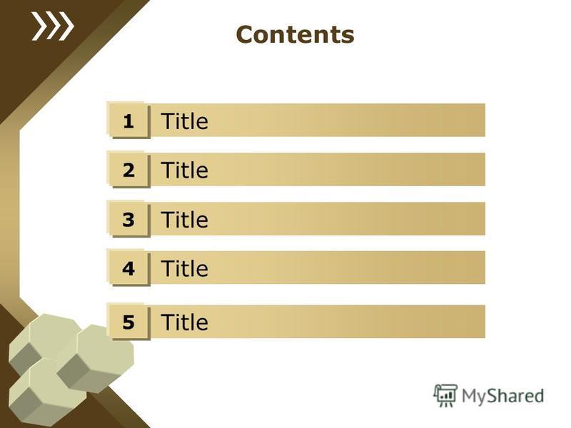 Title Contents 1 Title 2 3 4 5