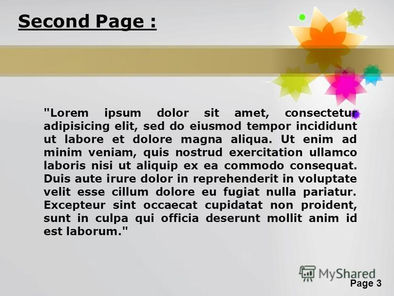 Page 3 Second Page :