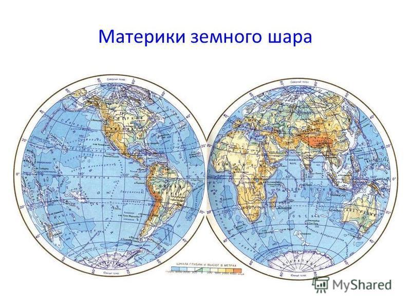 Материки земного шара