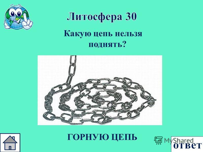 Какую цепь нельзя поднять ? ГОРНУЮ ЦЕПЬ