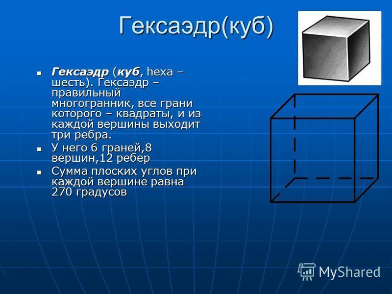 Радиус описанной сферы: Радиус вписанной сферы: Площадь поверхности: Объем додекаэдра: