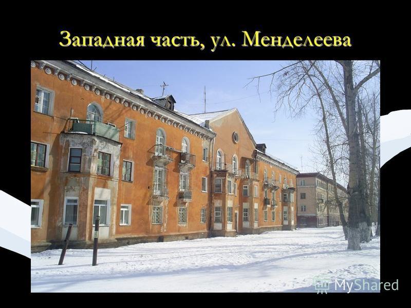 Западная часть, ул. Менделеева