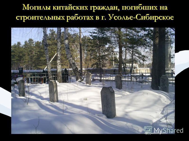 Могилы китайских граждан, погибших на строительных работах в г. Усолье-Сибирское