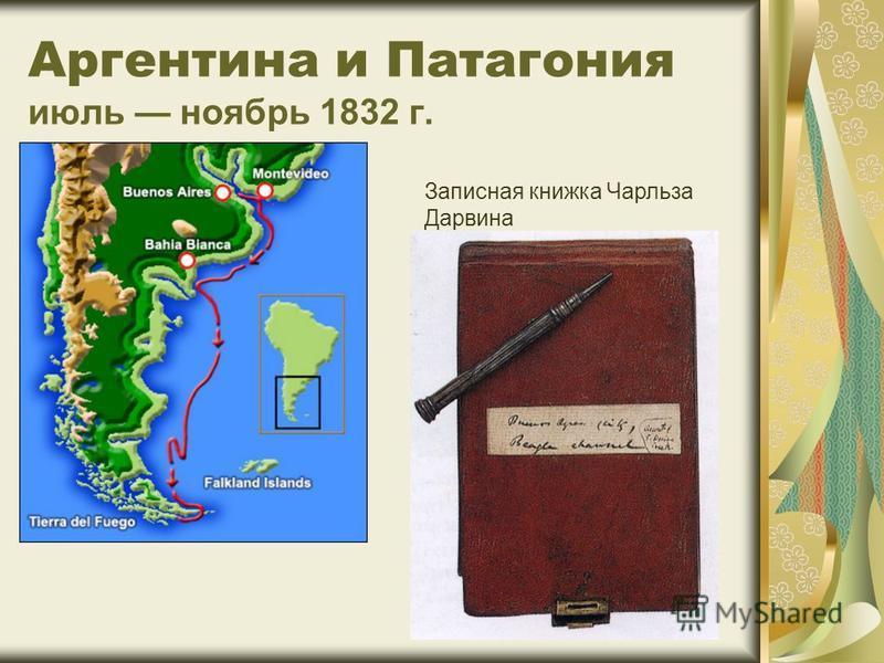 Аргентина и Патагония июль ноябрь 1832 г. Записная книжка Чарльза Дарвина