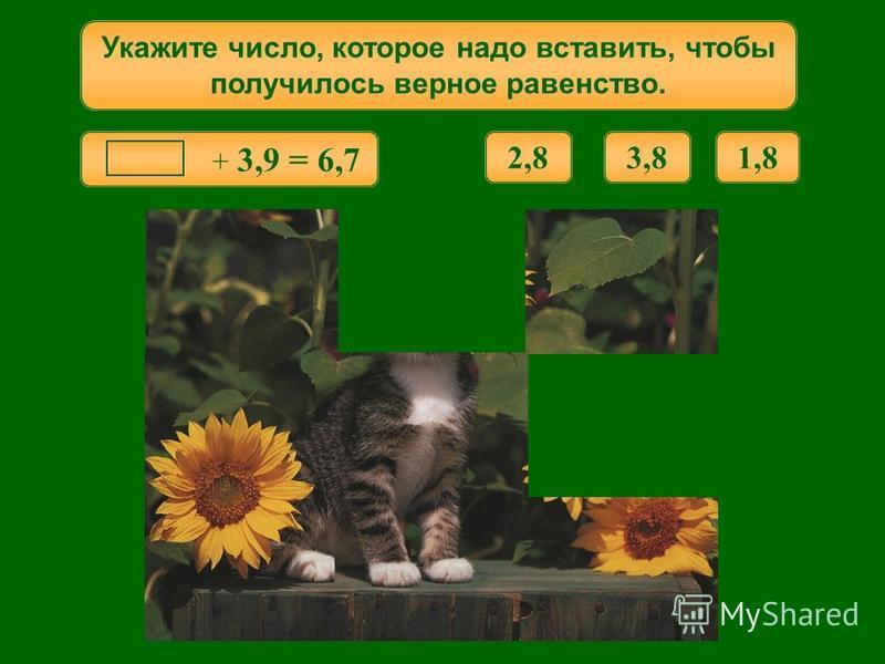 4,6 + = 8,1 Укажите число, которое надо вставить, чтобы получилось верное равенство. 2,54,53,5