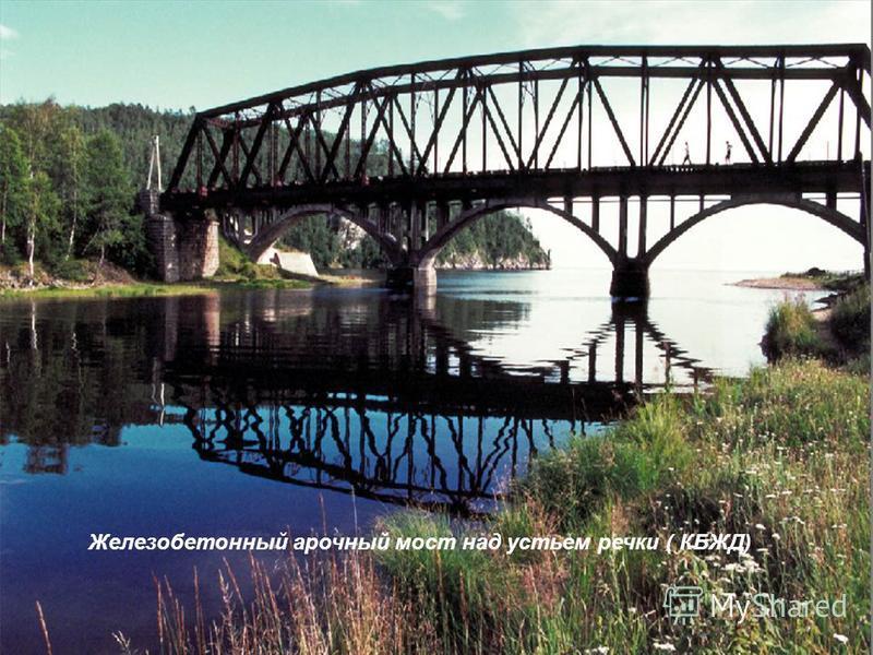 Железобетонный арочный мост над устьем речки ( КБЖД)