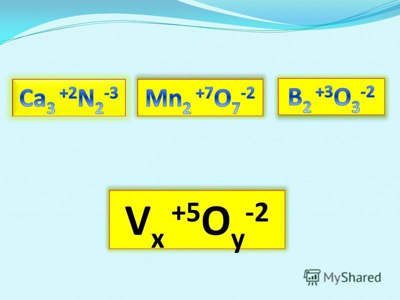 V x +5 O y -2