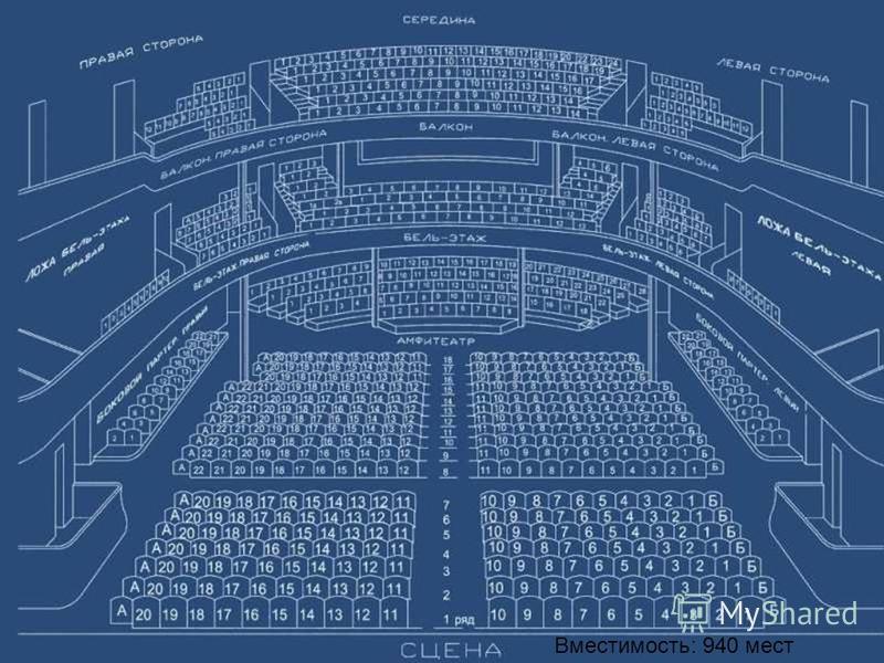 Вместимость: 940 мест