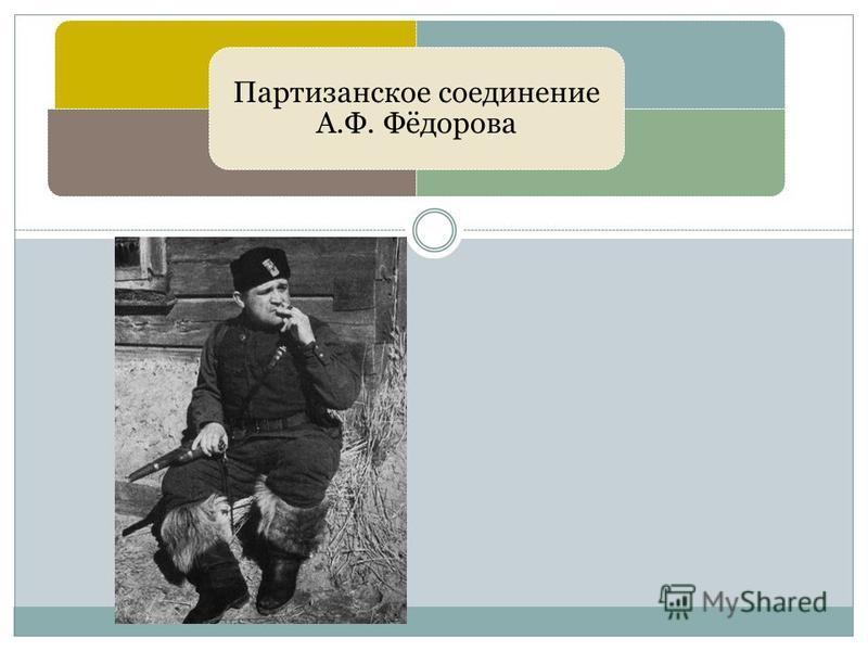 Партизанское соединение А.Ф. Фёдорова