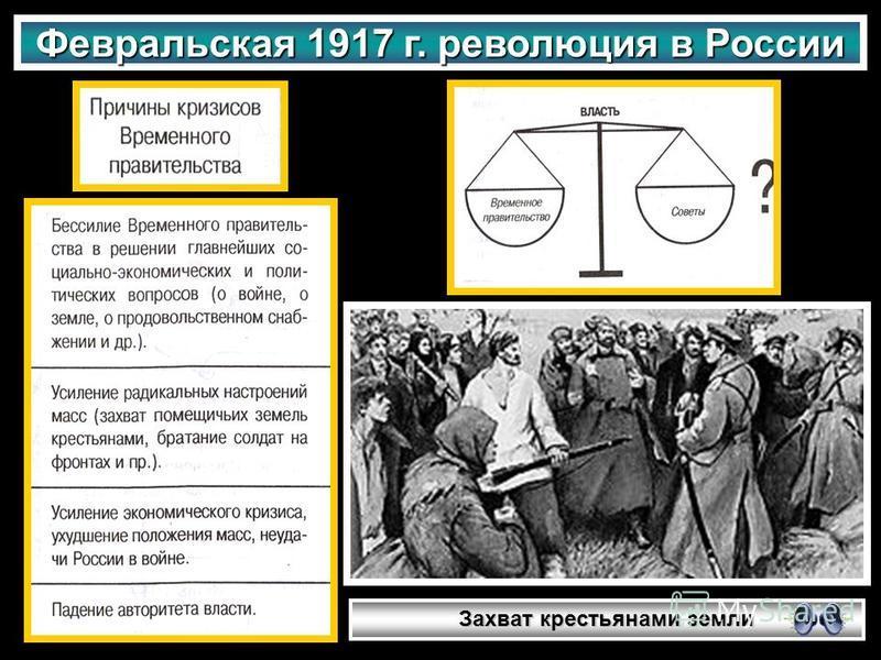 Февральская 1917 г. революция в России Захват крестьянами земли