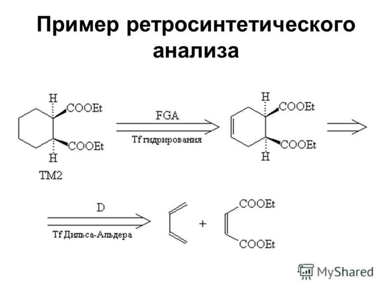Пример ретро синтетического анализа