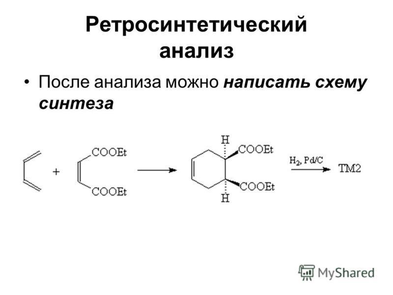 Ретросинтетический анализ После анализа можно написать схему синтеза