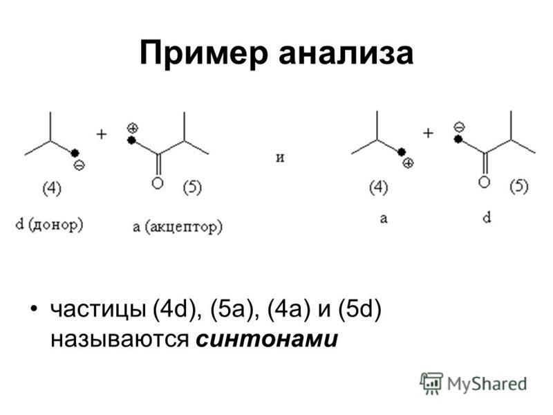 Пример анализа частицы (4d), (5a), (4a) и (5d) называются сентонами