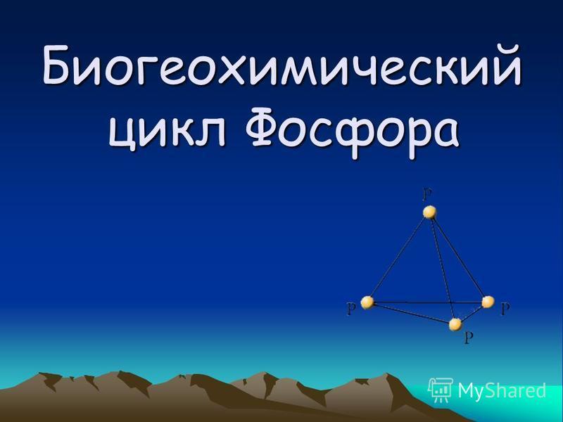 Биогеохимический цикл Фосфора