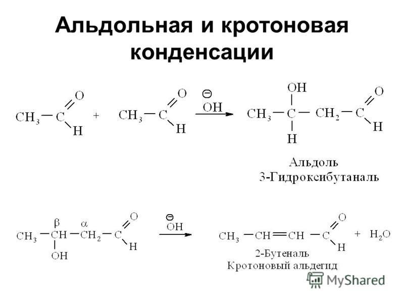 Альдольная и кротоновая конденсации