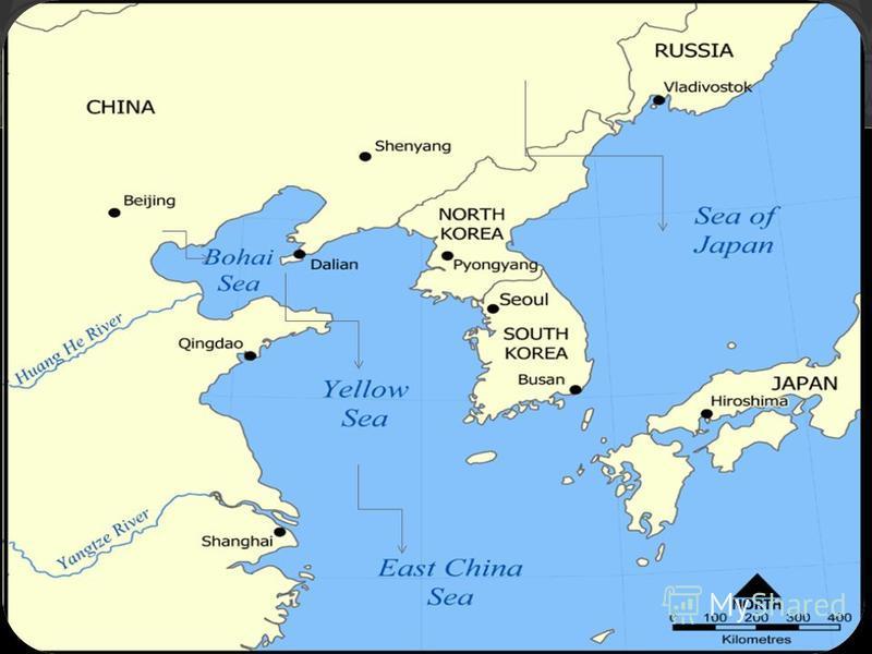 Китай расположен в Центральной и Восточной Азии, на западном побережье Тихого океана. Это - третья по площади страна на земном шаре площадь составляет 9,6 млн. Кв. км. Китайская народная республика омывается Бухарским заливом, жёлтым, Восточно - Кита