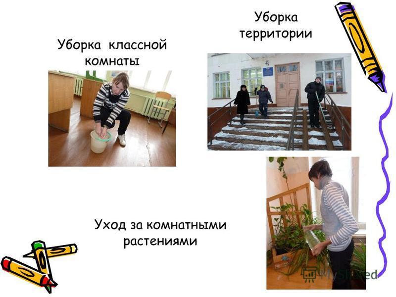 Уборка территории Уборка классной комнаты Уход за комнатными растениями