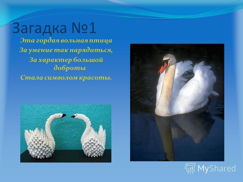 Загадка 1 Эта гордая вольная птица За умение так нарядиться, За характер большой доброты Стала символом красоты.