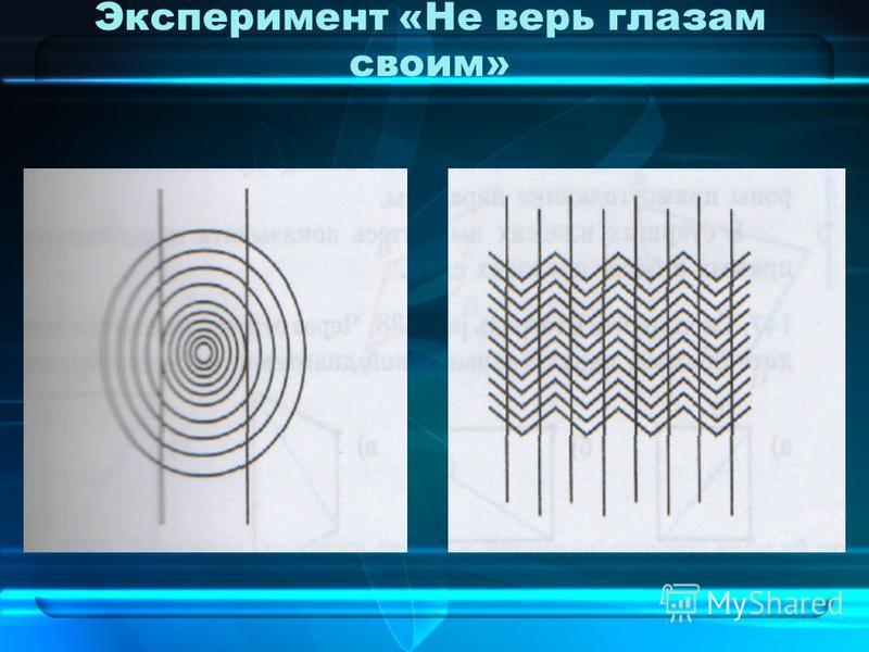 Эксперимент «Не верь глазам своим»