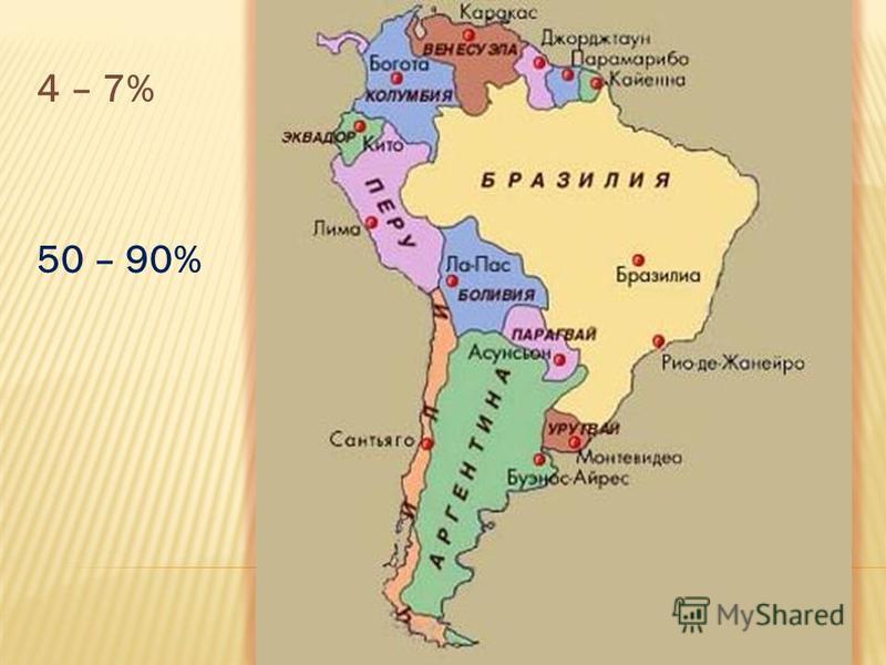4 – 7% 50 – 90%