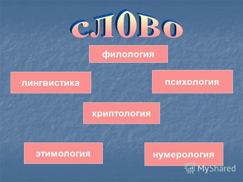 этимология нумерология лингвистика филология психология криптология