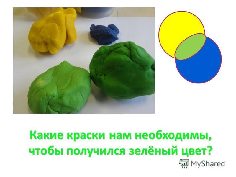 Какие краски нам необходимы, чтобы получился зелёный цвет?