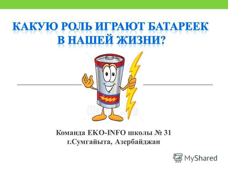 Команда EKO-INFO школы 31 г.Сумгайыта, Азербайджан