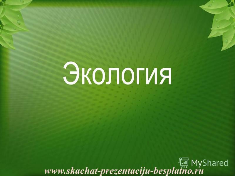 Экология www.skachat-prezentaciju-besplatno.ru