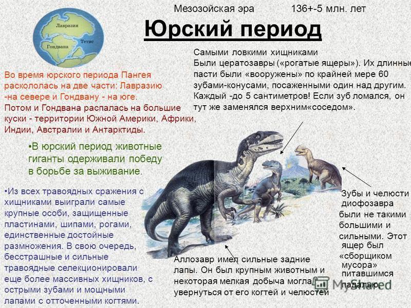 Триасовый период Гигантская амфибия- мастодонзавр- была очень похожа на крокодила. Самым большим из всех когда либо существовавших континентов была Пангея. В триасовый период (245-204 миллиона лет назад) из осушенных земель сформировался огромный ост