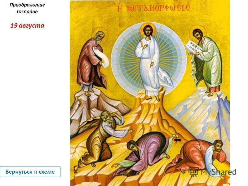 Преображение Господне 19 августа Вернуться к схеме