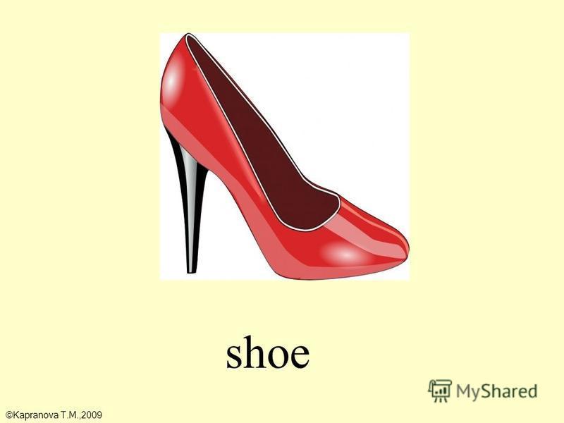shoe ©Kapranova T.M.,2009