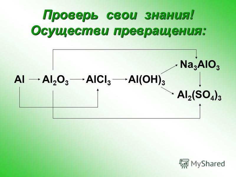 Применение соединений алюминия