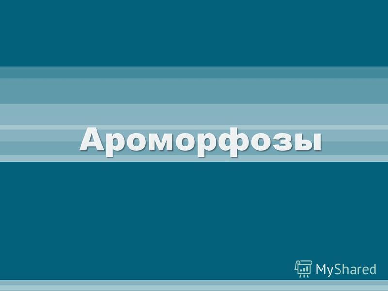 Ароморфозы