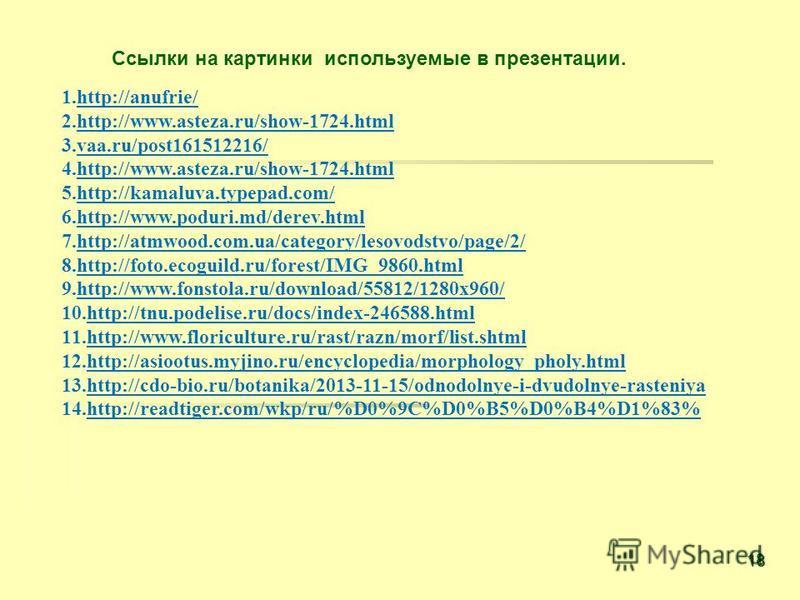 1.http://anufrie/ 2.http://www.asteza.ru/show-1724. html 3.vaa.ru/post161512216/ 4.http://www.asteza.ru/show-1724. html 5.http://kamaluva.typepad.com/ 6.http://www.poduri.md/derev.html 7.http://atmwood.com.ua/category/lesovodstvo/page/2/ 8.http://fot