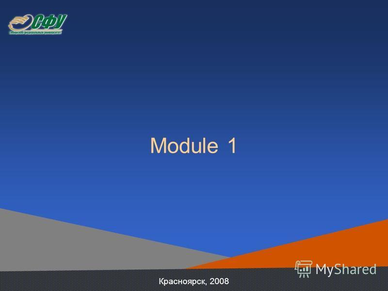 Module 1 Красноярск, 2008