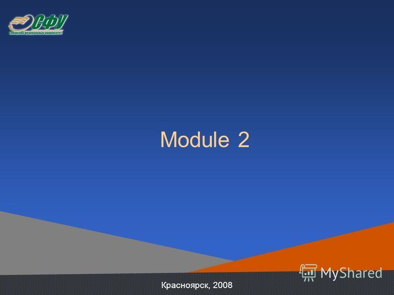 Module 2 Красноярск, 2008