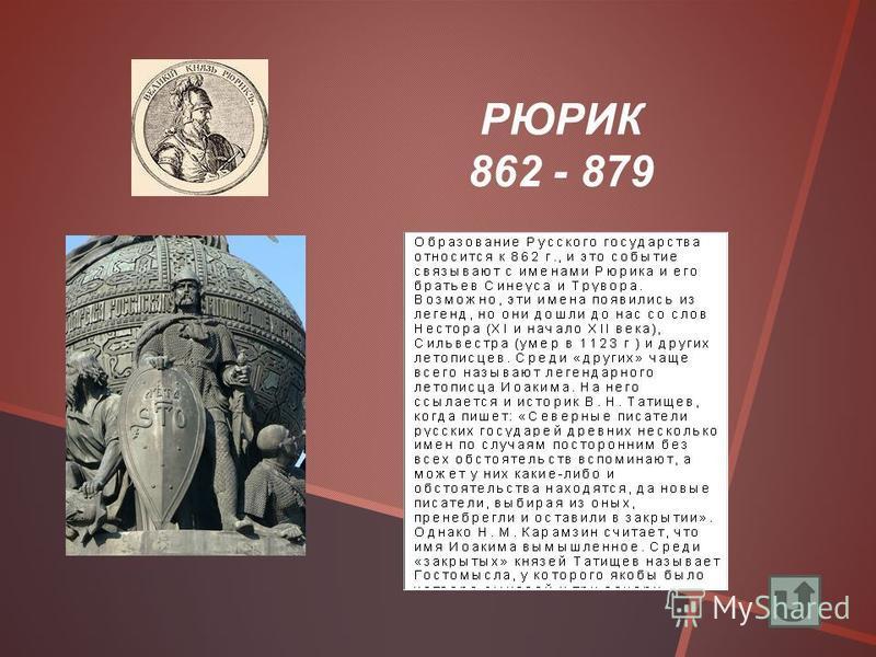 РЮРИК 862 - 879