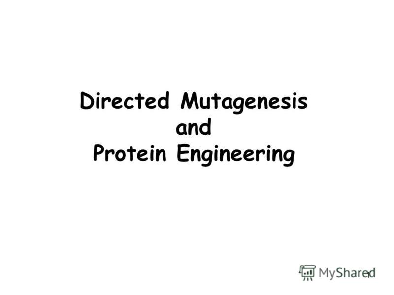 1 Directed Mutagenesis and Protein Engineering