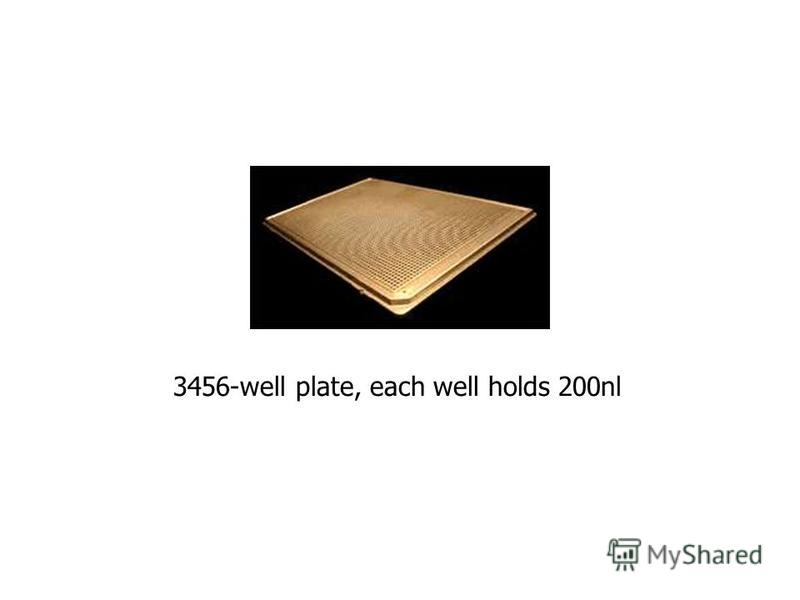 3456-well plate, each well holds 200nl