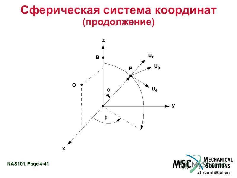 NAS101, Page 4-41 Сферическая система координат (продолжение)