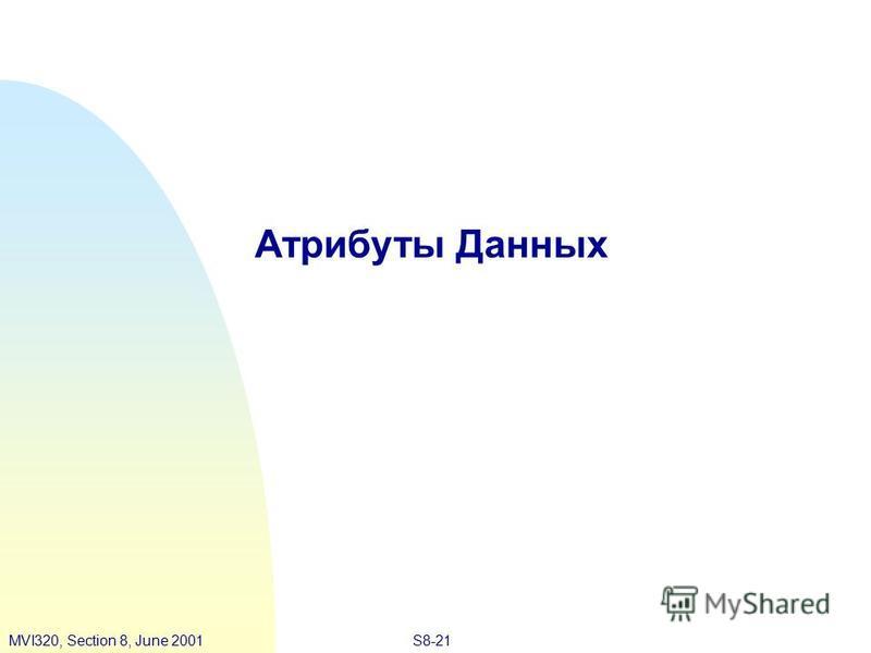 S8-21MVI320, Section 8, June 2001 Атрибуты Данных