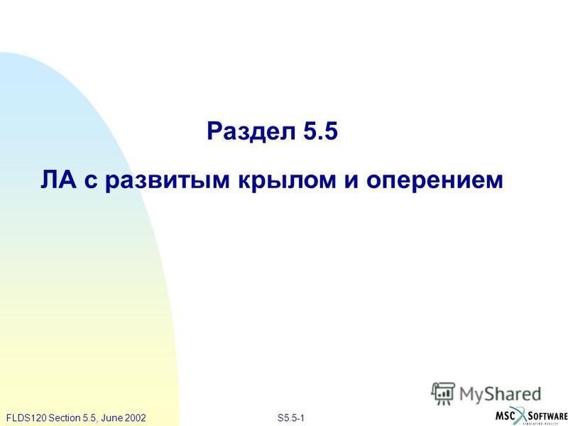 S5.5-1FLDS120 Section 5.5, June 2002 Раздел 5.5 ЛА с развитым крылом и оперением